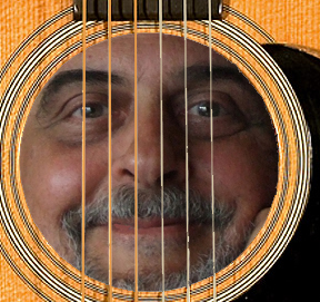 face in guitar